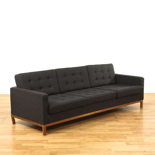 Charcoal Mid Century Modern Tufted Sofa | Loveseat.com Los Angeles