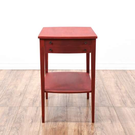 Remarkable Shabby Chic Red Tiered End Table Loveseat Vintage Download Free Architecture Designs Lukepmadebymaigaardcom