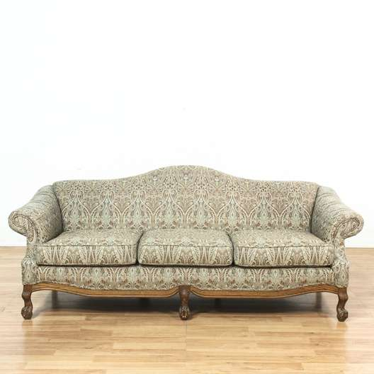Marvelous Oak Frame Paisley Print Upholstered Sofa Couch Loveseat Gmtry Best Dining Table And Chair Ideas Images Gmtryco