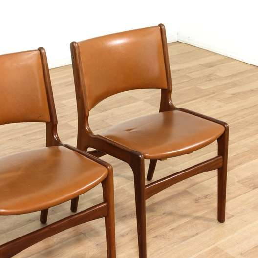 Set Of 4 Teak Danish Modern Dining Chairs