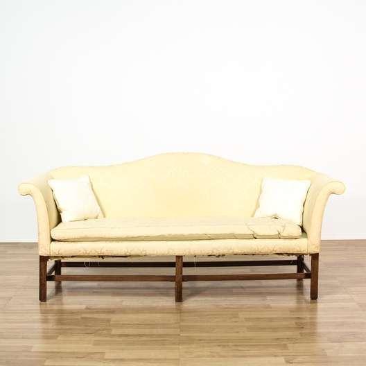 Peachy Chippendale Style White Slip Covered Sofa Loveseat Uwap Interior Chair Design Uwaporg