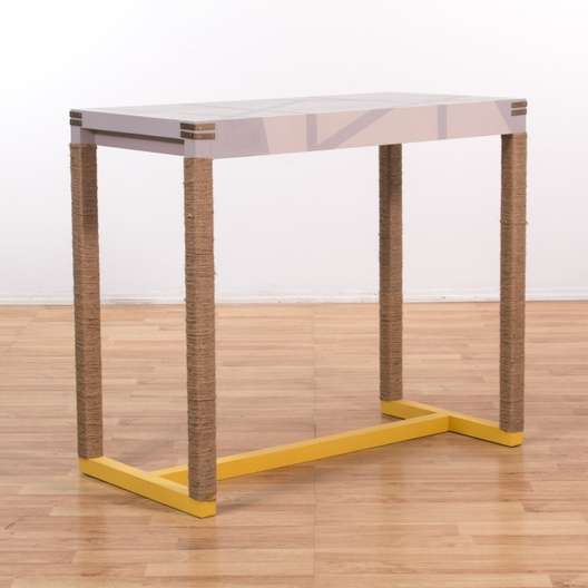 Yellow Jute Bar Height West Elm Dining Table
