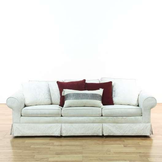 Stupendous White Brocade Sofa Theyellowbook Wood Chair Design Ideas Theyellowbookinfo