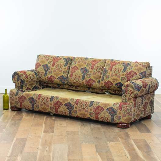 Strange Lane Tribal Motif Sleeper Sofa Loveseat Com San Diego Creativecarmelina Interior Chair Design Creativecarmelinacom