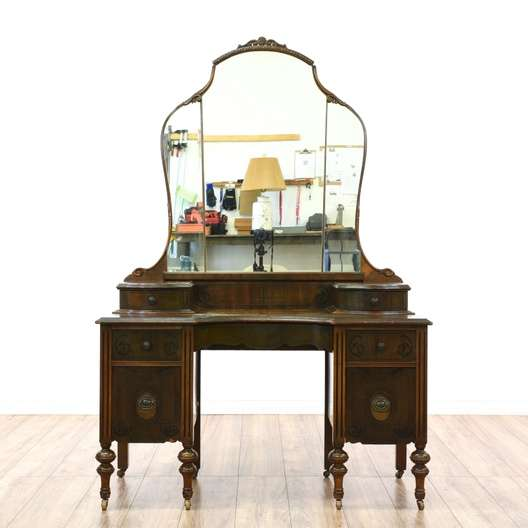 Antique Depression Era Vanity Amp Mirror Loveseat Vintage