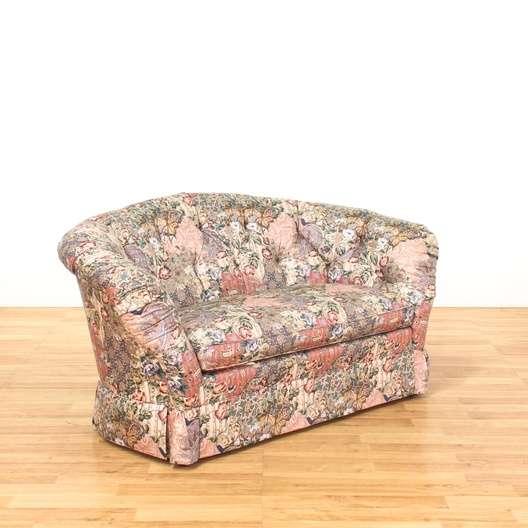 Baker Furniture Fl Paisley Print Loveseat 1