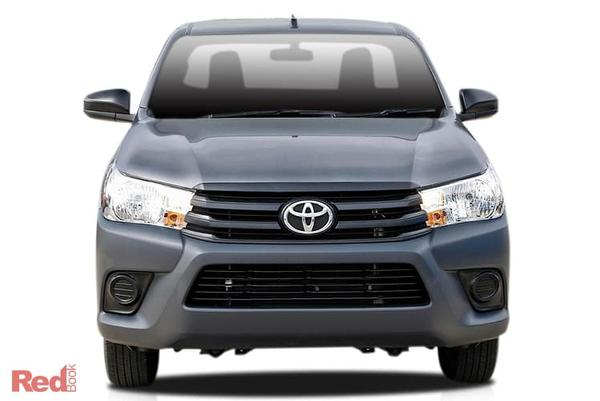 Toyota Hilux Workmate HiLux WorkMate 4x2 Single-Cab Cab-Chassis petrol manual from $24,990 drive away including Toyota fitted General Purpose Alloy Narrow Tray + $500 of Genuine Accessories