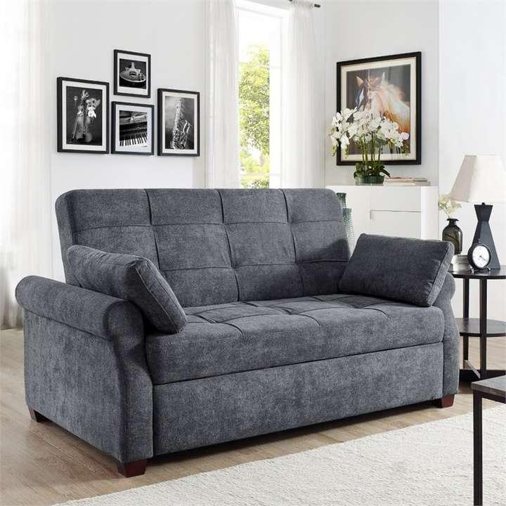 Serta Haiden Queen Sofa Bed, Gray   Loveseat Online ...