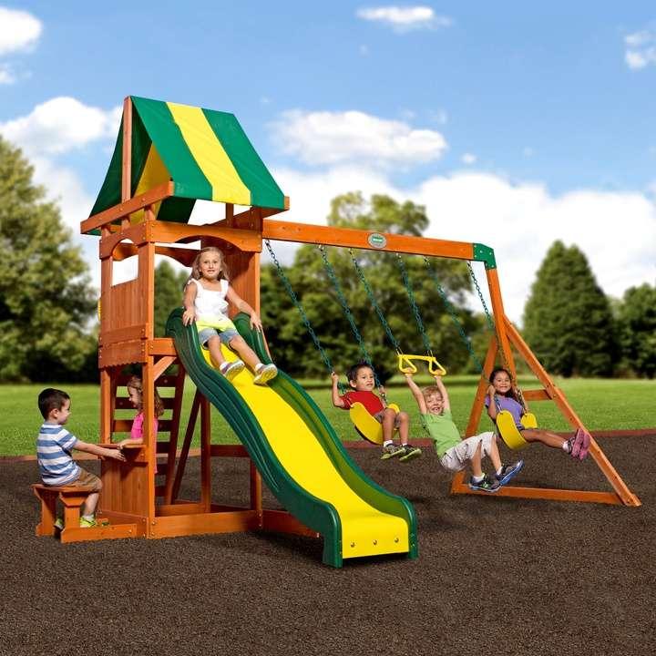 Backyard Discovery Weston Cedar Swing Set | Loveseat ...
