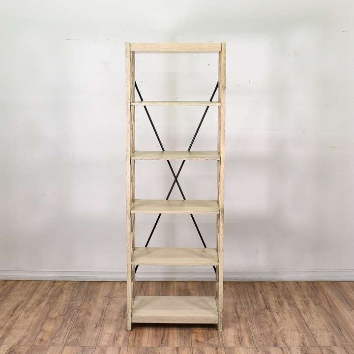 white open bookcase bookshelf