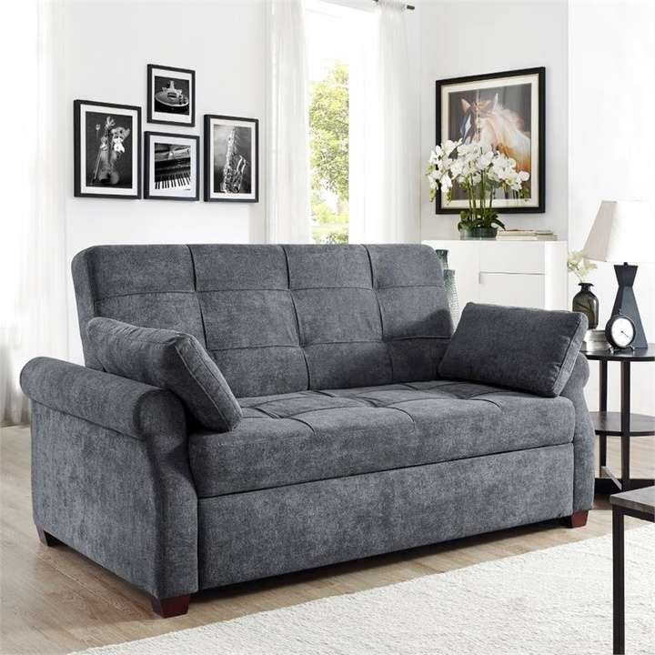 Serta Futons Serta Haiden Queen Sofa Bed, Gray   Loveseat ...