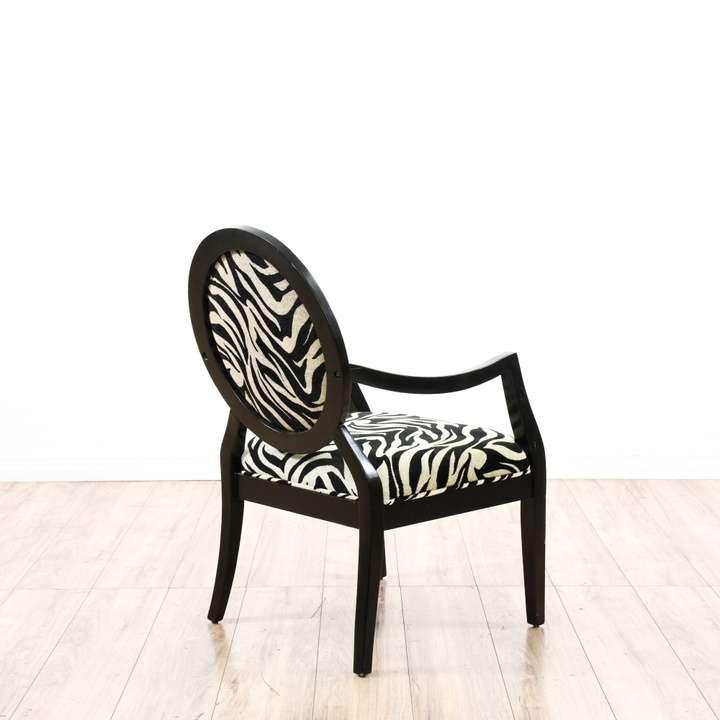 Zebra Print Modern Armchair Accent Chair