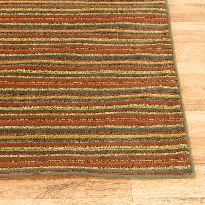 Mid century modern retro striped area rug loveseat for Modern rugs los angeles