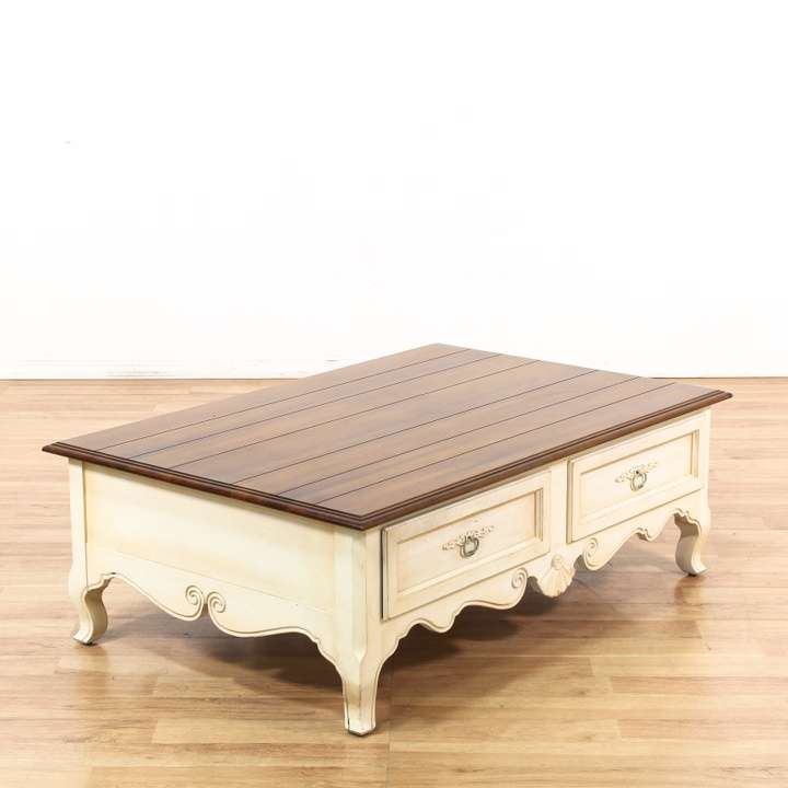 """Ethan Allen Gage Coffee Table: """"Ethan Allen"""" 2 Drawer Coffee Table"""