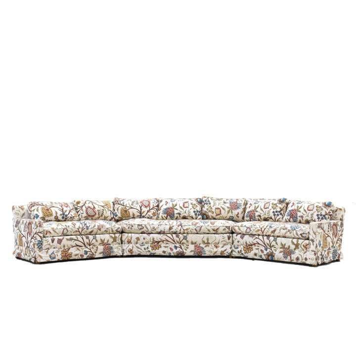 Quot Ethan Allen Quot Mid Century Modern Sofa W Chaise Loveseat