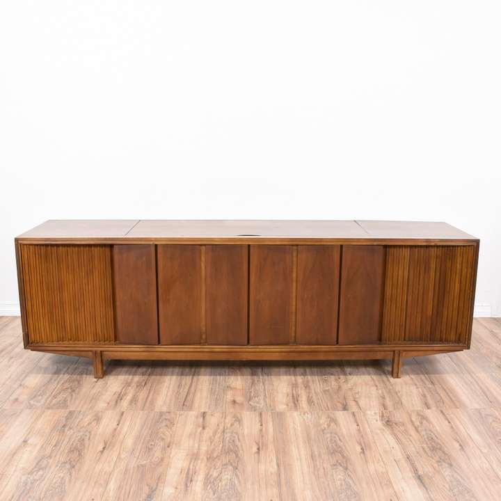 Packard Bell Record Player Stereo Cabinet Loveseat Vintage Furniture San Go