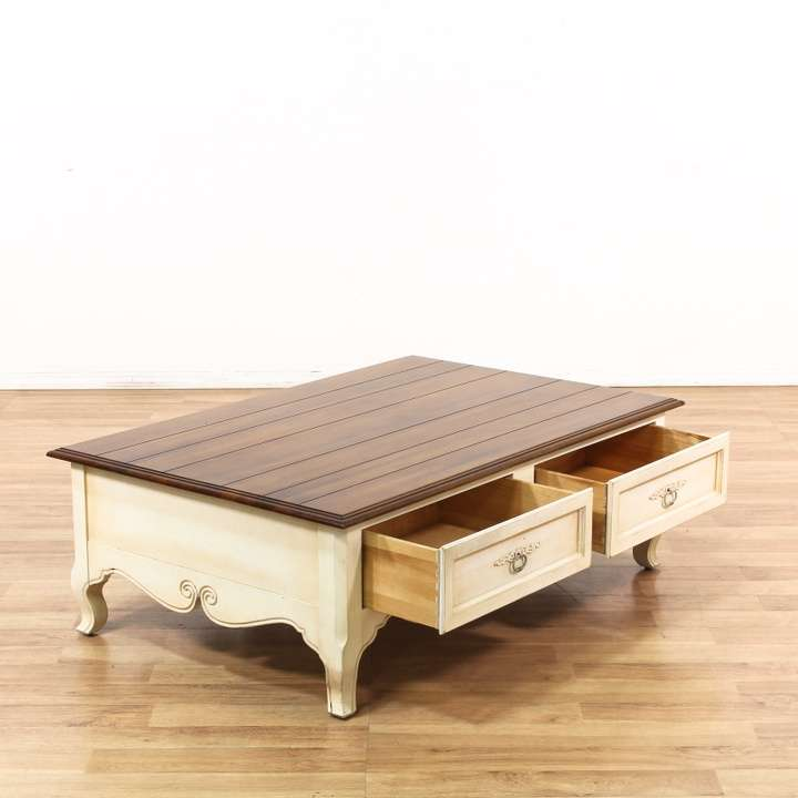 Ethan Allen Coffee Table With Drawers