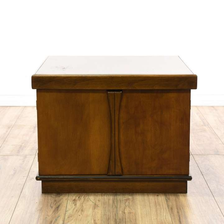 """Duncan Storage Coffee Table: """"Mersman"""" Duncan Phyfe Tiered Side Table"""