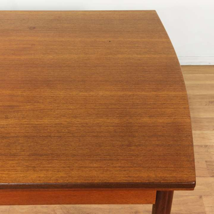 Danish modern teak dining table w extensions loveseat for Danish modern la