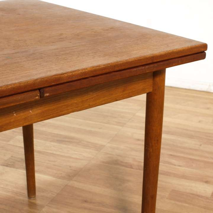 Danish Modern Dining Table W Pull Out Leaves Loveseat
