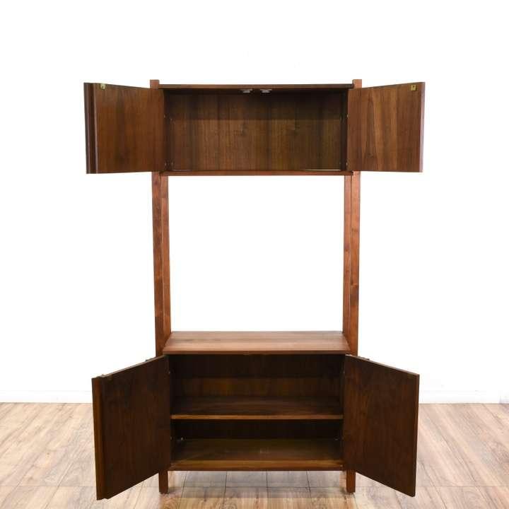 Mid century modern wall unit bookshelf loveseat vintage furniture san diego - Modern bookshelf wall unit ...