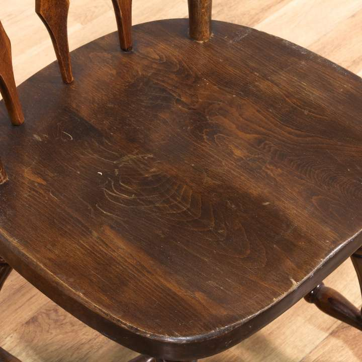 Pair Of Scalloped Wood Chairs Made In Yugoslavia