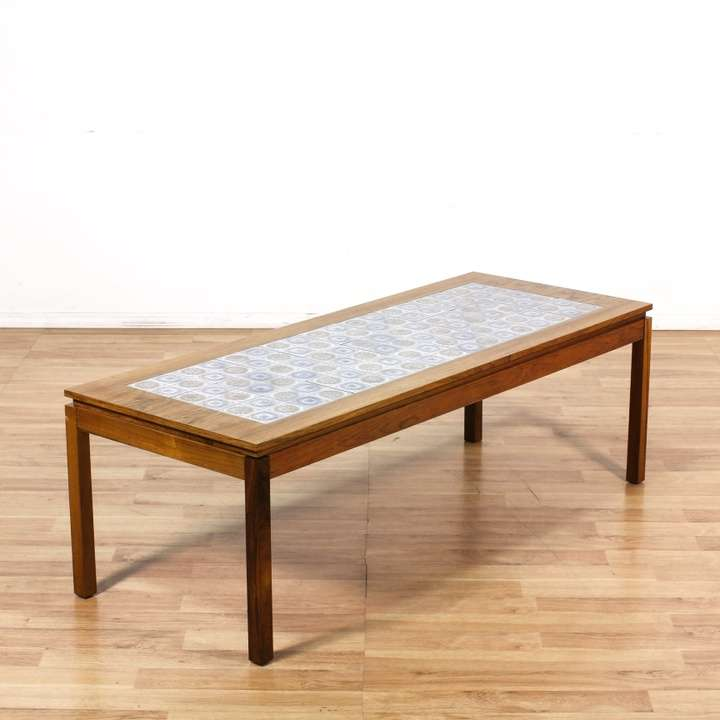 Danish Rosewood Coffee Table W/ Tile Inlay
