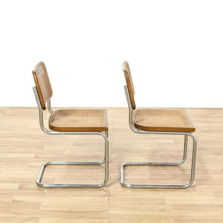 Pair Of Marcel Breuer Cesca Style Italian Chairs