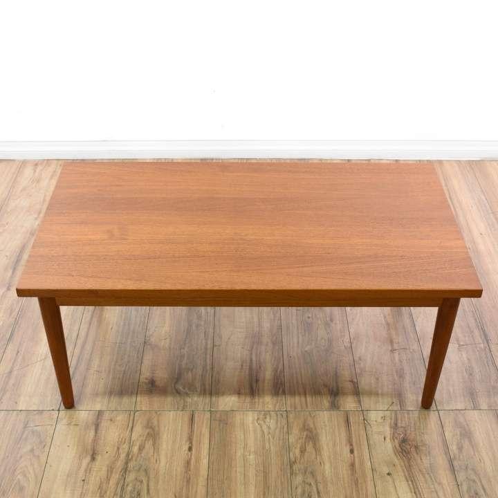 Teak Unique Coffee Table: Danish Teak Coffee Table W/ Unique Edge Detail