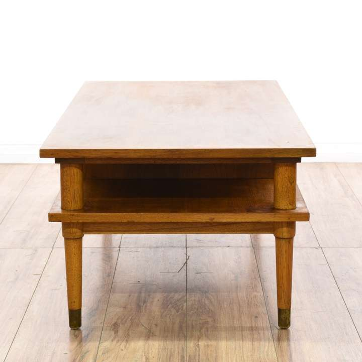 """Drexel"" Biscayne Mid Century 2 Tier Coffee Table"