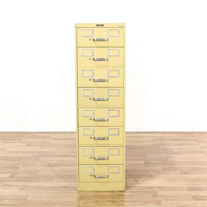 Quot Norwalk Quot 8 Drawer Yellow Metal File Cabinet Loveseat Vintage Furniture Los Angeles