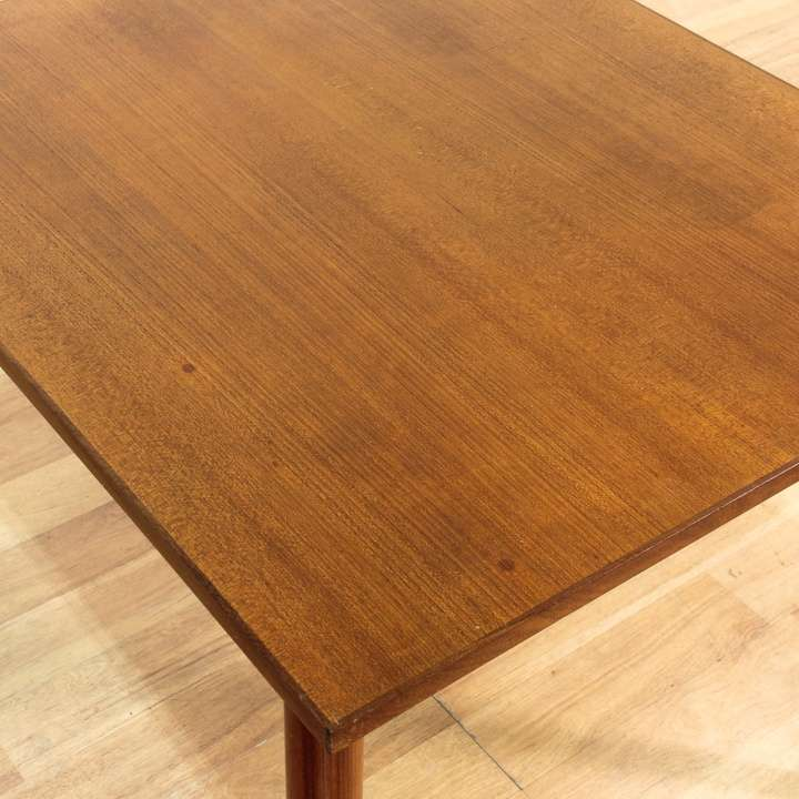 Danish modern teak dining table loveseat vintage for Danish modern la