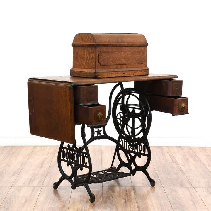 Quot Domestic Quot Treadle Sewing Machine Cabinet Loveseat