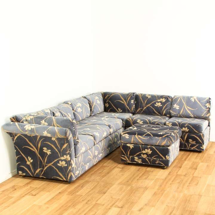 2 Piece Modular Mid Century Modern Sofa Sectional