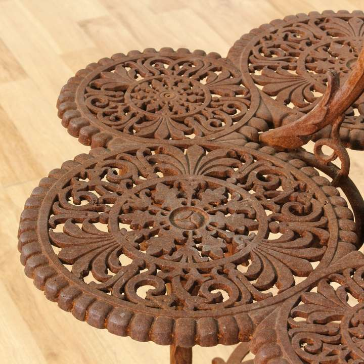 Victorian Monumental Cast Iron Patina Plant Stand Loveseat Vintage Furniture Los Angeles