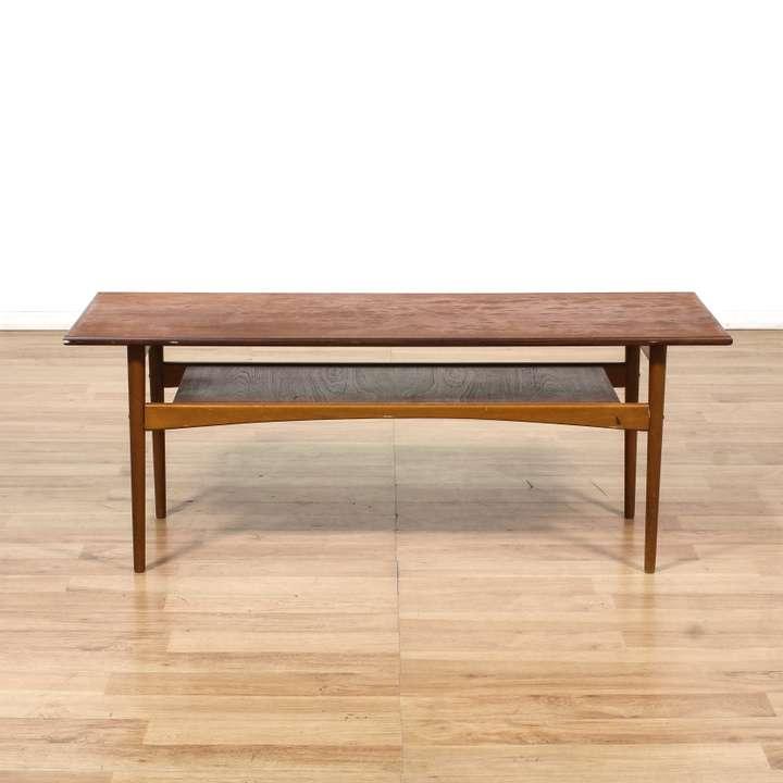 Danish Modern Coffee Table W/ Shelf