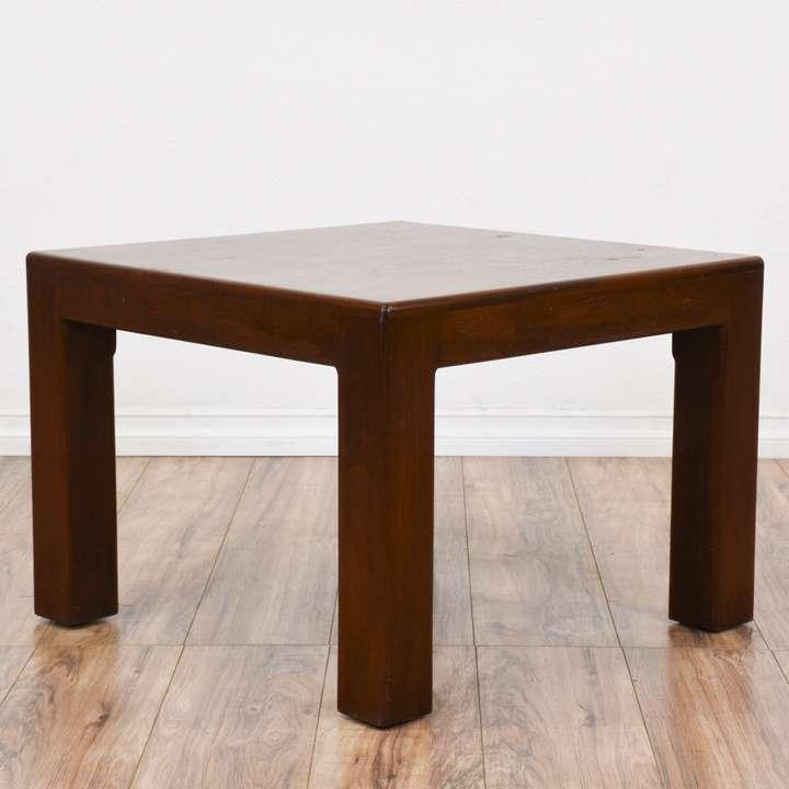 Simple Dark Cherry Square End Table | Loveseat Vintage ...