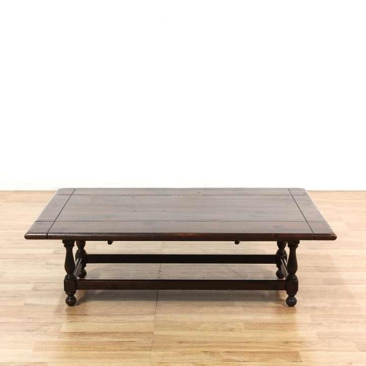 "Ethan Allen Trevor Coffee Table: ""Ethan Allen"" Traditional Dropleaf Coffee Table"