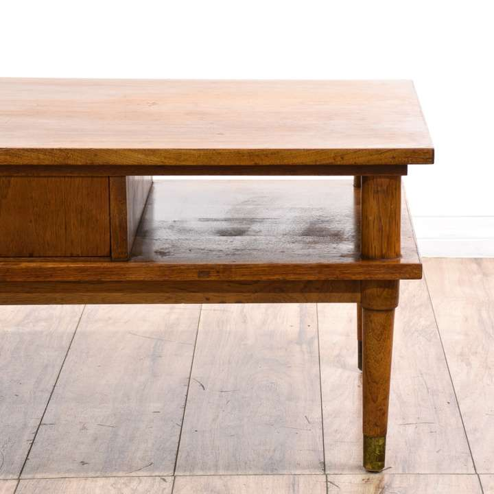 """""""Drexel"""" Biscayne Mid Century 2 Tier Coffee Table"""