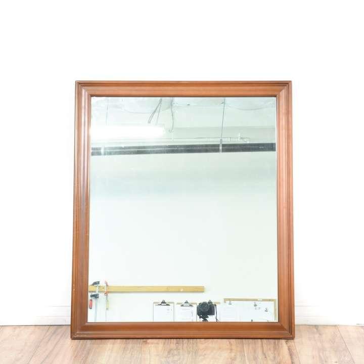 Octagon Frameless Bevel Mirror Loveseat Vintage