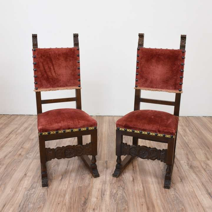 Pair of Antique Spanish Revival Chairs | Loveseat Vintage Furniture San  Diego - Pair Of Antique Spanish Revival Chairs Loveseat Vintage Furniture