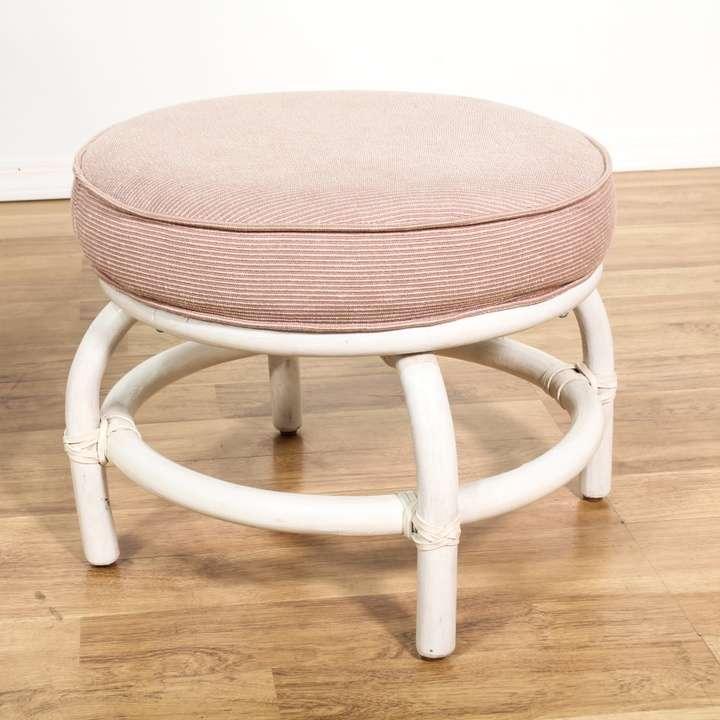 White Rattan Swivel Chair Amp Ottoman Loveseat Vintage