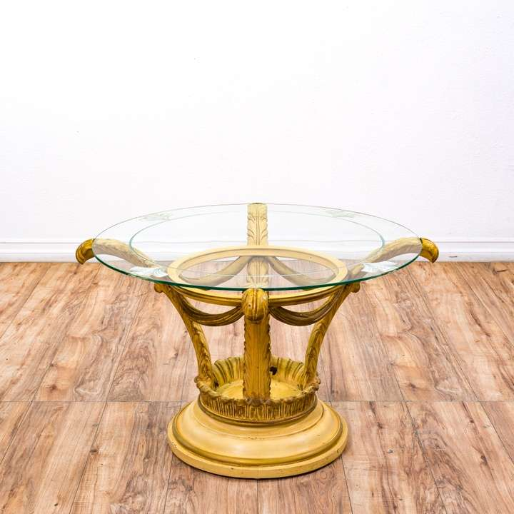 French Provincial Coffee Table For Sale: French Provincial Marble Top Coffee Table