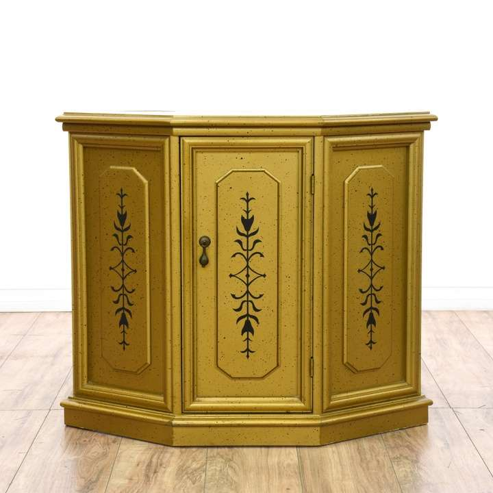 Forsyth Art Deco Kitchen Interior Design San Diego: Country Chic Slanted Pine Sewing Cabinet