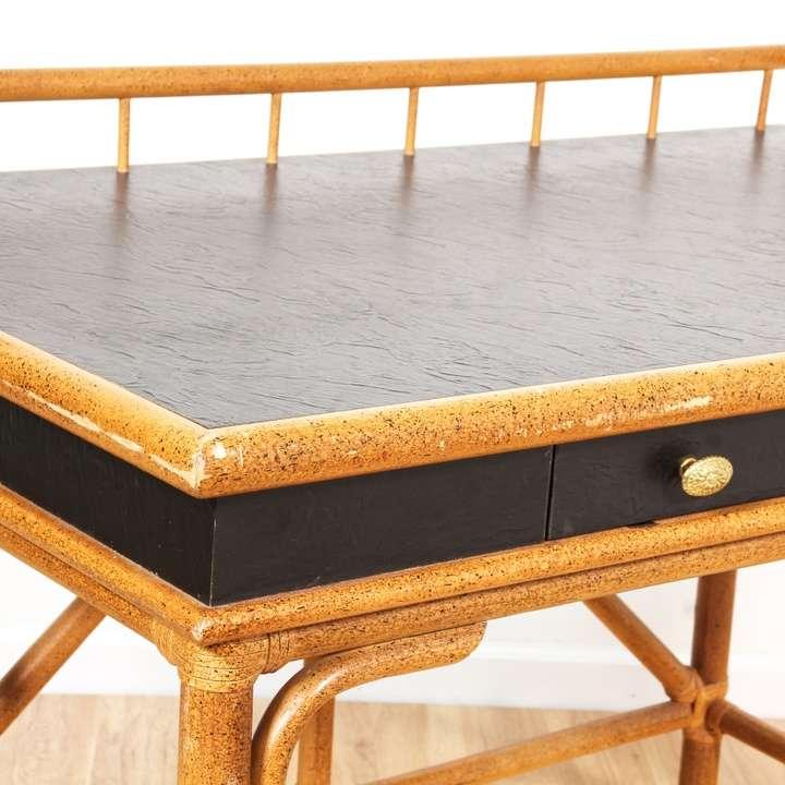 Quot Fleetwood Fine Furniture Co Quot Rattan Desk Loveseat