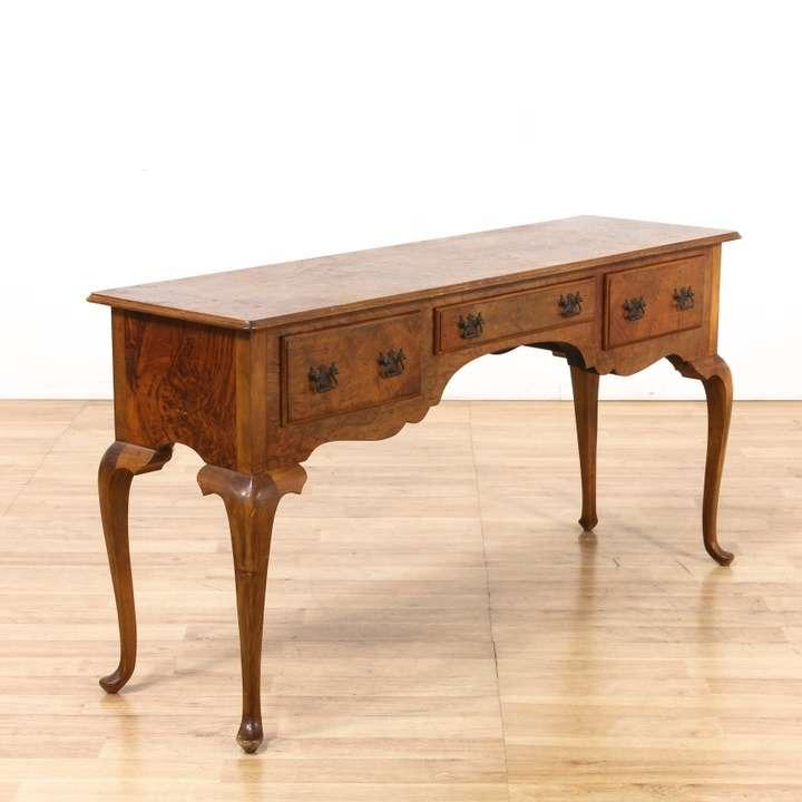rustic dark wood trestle sofa table console loveseat vintage furniture los angeles. Black Bedroom Furniture Sets. Home Design Ideas