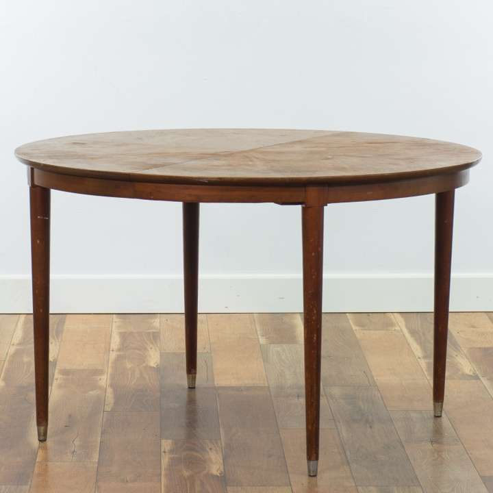 Mid Century Modern Round Dining Table W Tapered Legs ...