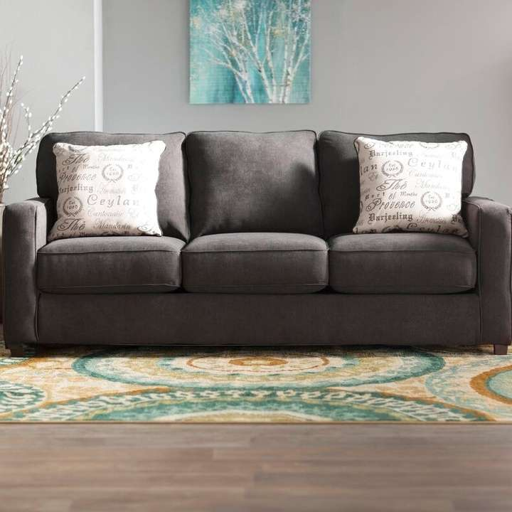 Charcoal Deerpark 84 Quot Square Arm Sofa Bed Loveseat