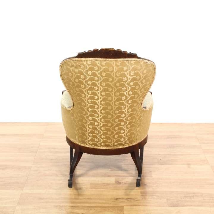 Victorian rocker rocking chair loveseat vintage for Victorian furniture los angeles