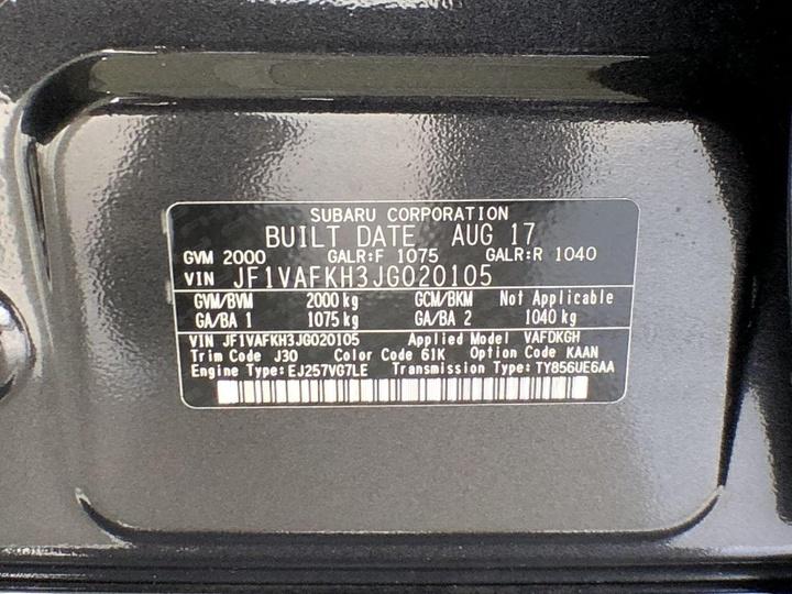 SUBARU WRX STI V1 STI. Sedan 4dr Man 6sp AWD 2.5T [MY17]